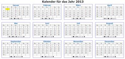 kalender 2013 vorlage einseitig quer weitere kalender vorlagen 2013