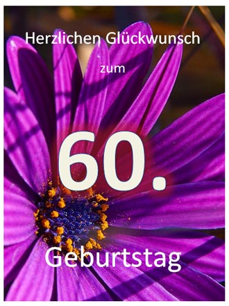 60. Geburtstag Glückwunschkarte