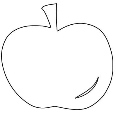 Apfel Malvorlage - Ausmalbild Apfel zum Ausdrucken und Ausmalen