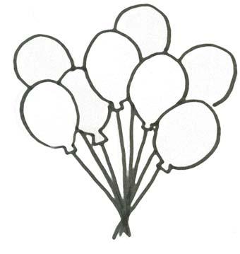 Malvorlage Ballons Geburtstag Ausmalbild F R Kinder