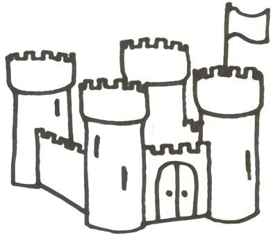 Burg Malvorlage Ausmalbild Ritterburg Zum Ausdrucken