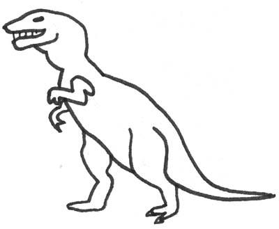 dinosaurier ausmalbild - malbild tyrannoraurus