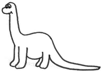 malbild lustiger dinosaurier - dinobild zum ausmalen