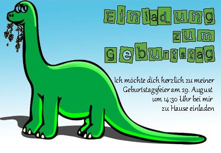 Einladungskarte Dino Zum Kindergeburtstag