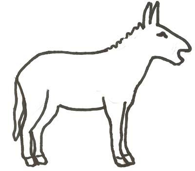 Esel Malvorlage Ausmalbild Esel Zum Ausmalen