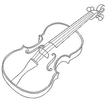 Geige Malvorlage
