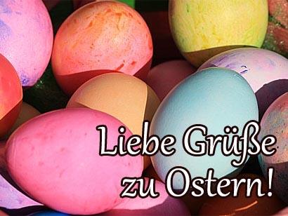 Grußkarte zu Ostern