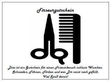 Gutschein für Friseur