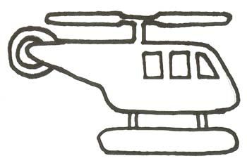 Hubschrauber Malvorlage Helikopter Ausmalbild