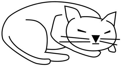 Schlafende Katze Ausmalbild Katzenmalvorlage