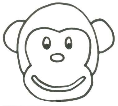 Malvorlage Affe   Affen Ausmalbild zum Ausdrucken