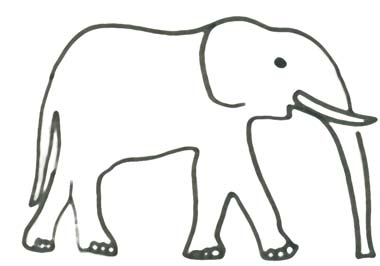 Elefant Malvorlage