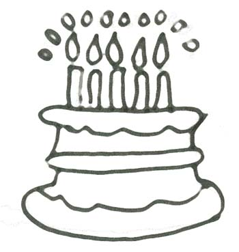 Malvorlage Geburtstag Torte