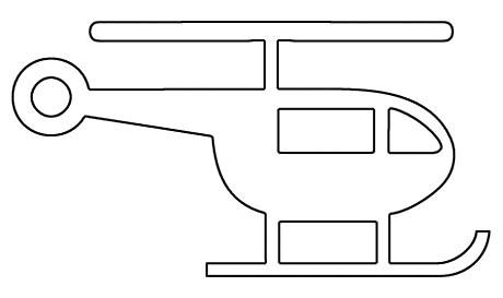 Malvorlage Hubschrauber Ausmalbild
