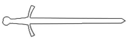 Malvorlage Schwert   Ritterschwert Ausmalbild