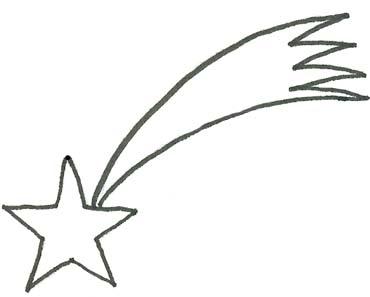 Malvorlage Stern Sternschnuppe Ausmalbild Zu Weihnachten