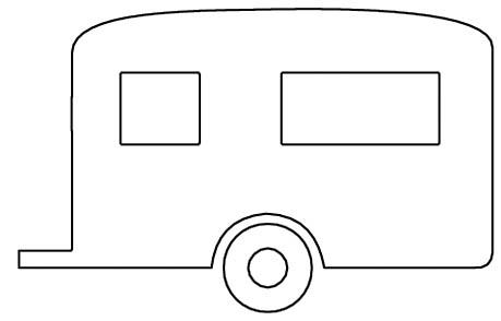 Malvorlage Wohnwagen - Ausmalbild