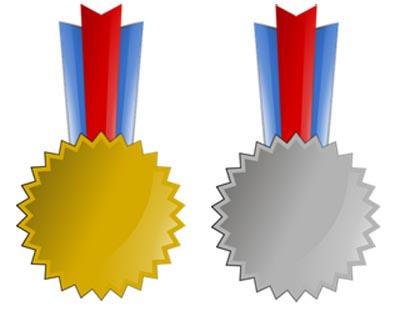 Orden Gold Silber Vorlage zum Ausdrucken