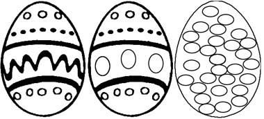 Ostereier Malvorlage Ausmalbild Mit Ostereiern Zu Ostern