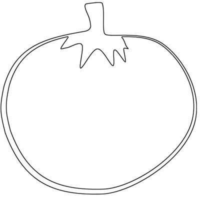 Tomate ausmalbild  Tomate Malvorlage - Ausmalbild Tomaten