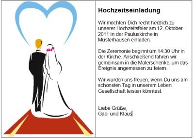 Einladung Zur Hochzeit Text Text Einladung Zur Hochzeit on
