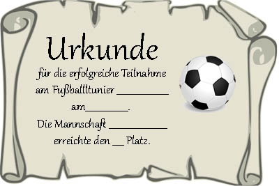 Urkunde Vorlage Fu Ball Muster Urkunde Kostenlos