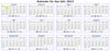 Kalender 2013 Vorlage zum Ausdrucken - einseitig quer