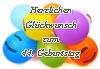 Geburtstagskarte zum 44. Geburtstag als Vorlage
