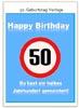 Witzige Karte zum 50. Geburtstag als Vorlage zum Ausdrucken