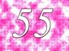 55. Geburtstag Einladungskarte - krass pink