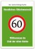 Vorlage für eine lustige Karte zum 60. Geburtstag