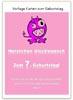 Glückwunschkarte zum 7. Geburtstag in Pink zum Ausdrucken
