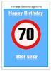 Vorlage Geburtstagskarte zum 70. Geburtstag für Word