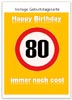 Lustige Karte zum 80. Geburtstag kostenlos