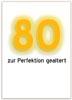 Vorlage für Glückwunschkarte zum 80. Geburtstag