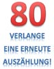 Lustige Karte zum 80. Geburtstag mit Spruch