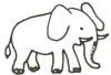 Ausmalbild Elefant - Elefantenmalvorlage