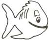 Lustiger Fisch Malvorlage - kostenlose Ausmalbilder