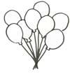 Malvorlage Ballons - Geburtstag Ausmalbild für Kinder