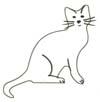Ausmalbild Katze - Katzenbild zum Ausmalen