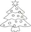 Ausmalbild Weihnachtsbaum - Christbaum Malvorlage