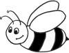 Biene Malvorlage - lustige Biene zum Ausmalen
