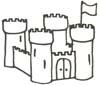 Burg Malvorlage - Ausmalbild Ritterburg zum Ausdrucken