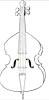 Cello Malvorlage - kostenloses Bild zum Malen