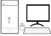 Computer Malvorlage - PC Ausmalbild kostenlos