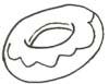 Donut Malvorlage - Ausmalbild Donut mit Glasur