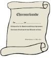 Ehrenurkunde kostenlos - Vordruck für Urkunden