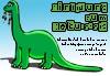 Lustige Einladungskarte Dino zum Kindergeburtstag