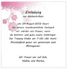 Hochzeit Einladung Anschreiben Vorlage