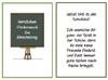 Einschulungskarte mit Tafel zum Ausdrucken